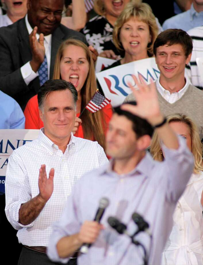 GOP presidential candidate Mitt Romney took a risk and emerged as a leader with Rep. Paul Ryan as a running mate. Photo: Darren Hauck, Getty Images / 2012 Getty Images