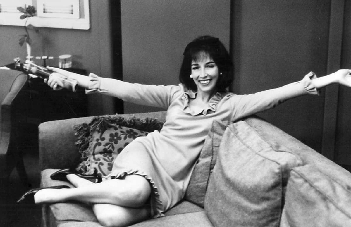 Helen Gurley Brown on her first day as editor-in-chief of Cosmopolitan (1965).