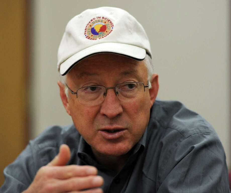 U.S. Interior Secretary Ken Salazar comments on the proposed management plan for the National Petroleum Reserve-Alaska following a visit to the North Slope Monday, Aug. 13, 2012 in Anchorage, Alaska. (AP Photo/The Anchorage Daily News, Erik Hill) Photo: Erik Hill / Anchorage Daily News