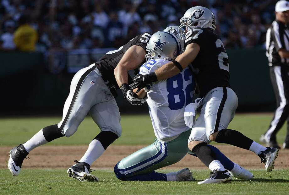 Dallas tight end Jason Witten suffered a lacerated spleen Monday against the Raiders and could miss the season opener. Photo: Thearon W. Henderson, Getty Images / 2012 Getty Images