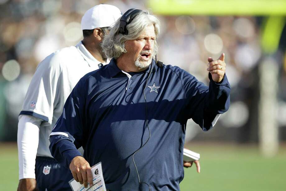 Dallas Cowboys defensive coordinator Rob Ryan gestures during the first half of an NFL preseason football game against the Oakland Raiders in Oakland, Calif., Monday, Aug. 13, 2012. (AP Photo/Ben Margot) Photo: Ben Margot, Associated Press / AP
