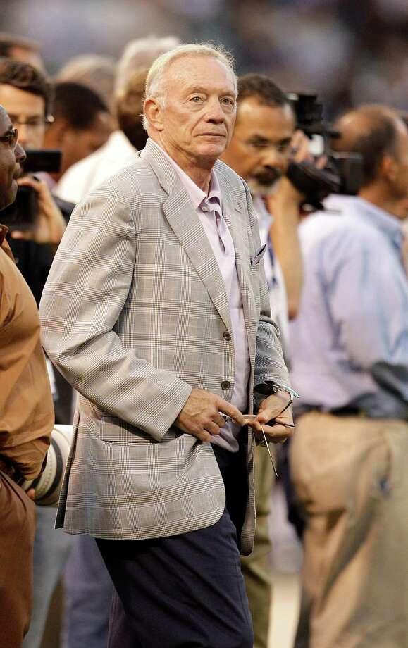 Dallas Cowboys owner Jerry Jones watches an NFL preseason football game against the Oakland Raiders in Oakland, Calif., Monday, Aug. 13, 2012.(AP Photo/Ben Margot) Photo: Ben Margot, Associated Press / AP