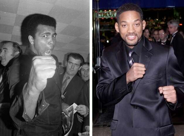 "Will Smith gained a lot of weight to play boxing great Muhammad Ali in the 2001 movie ""Ali,"" for which he was nominated for an Oscar. (Harry Dempster / Getty Images)"