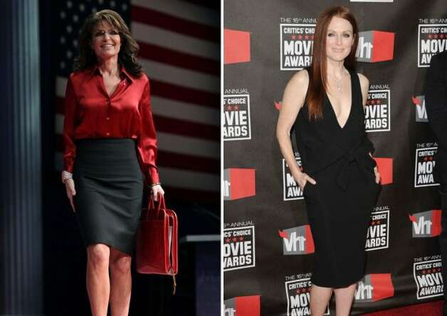 "Julianne Moore played Sarah Palin in the HBO moive ""Game Change"" about the 2008 election."