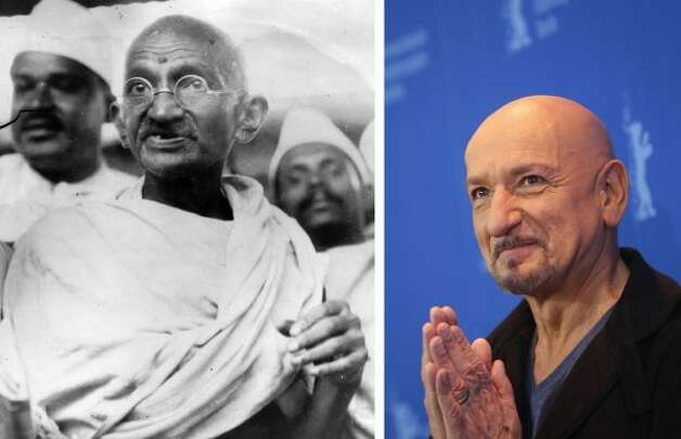 "Sir Ben Kingsley won an Oscar for his portrayal of Mahatma Gandhi in the 1982 movie ""Gandhi."" (Central Press / Getty Images)"