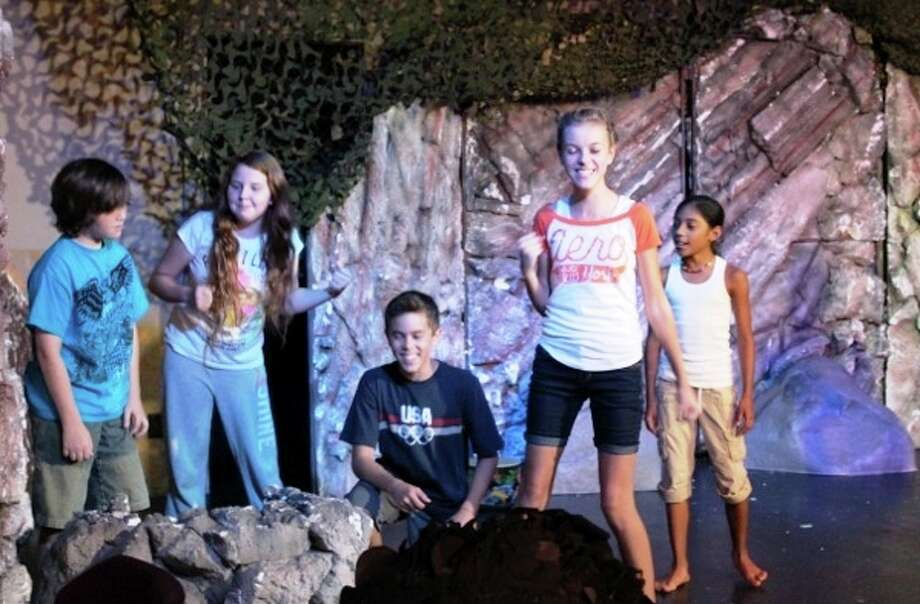 "Performing Arts San Antonio is staging ""Ug, The Caveman Musical,"" featuring, from left, David Whitmer, Olivia Burr, Aubrey Lewis, Jessica Ennis and Makayla Rodriguez. Courtesy Performing Arts San Antonio"