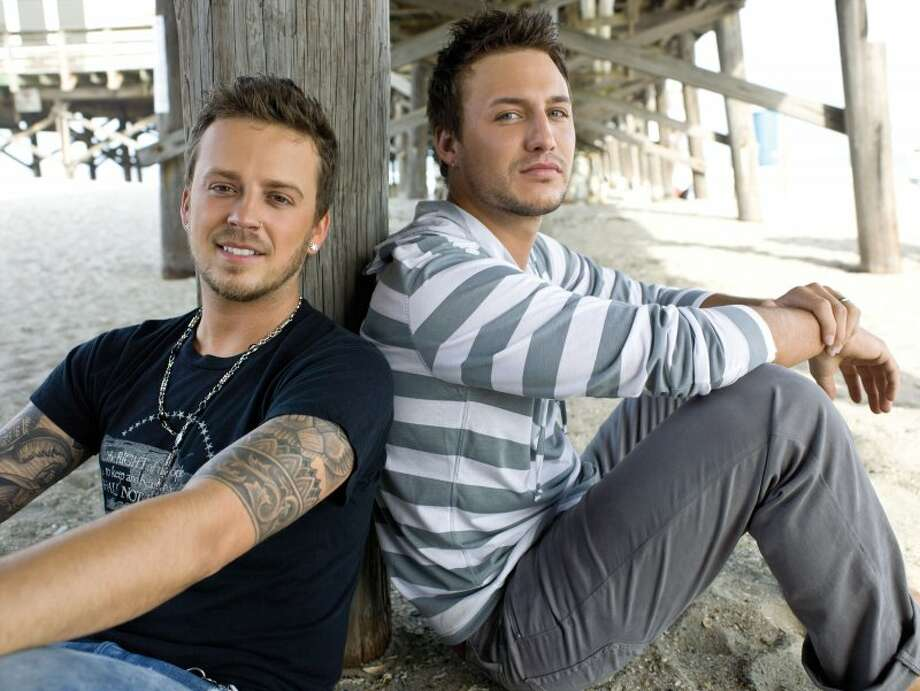 Rising country-pop duo Love & Theft will be at the KJ97 Star Party on Tuesday. RCA Records Photo: RCA Records