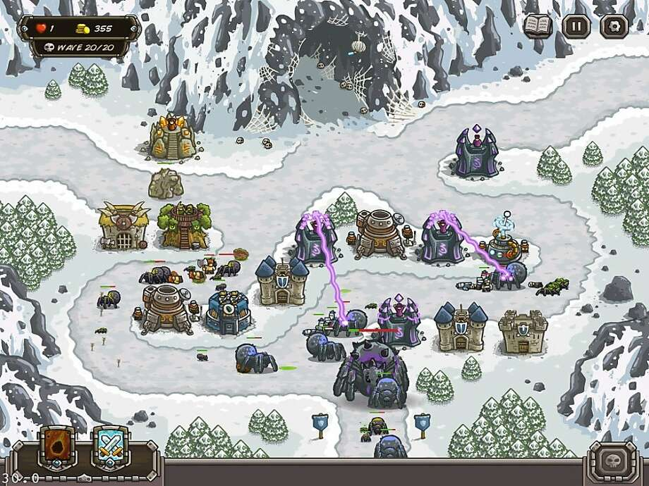 "In ""Kingdom Rush,"" players protect various forts from a variety of attacking outlaws, wizards and monsters. Photo: Ironhide Game Studio"