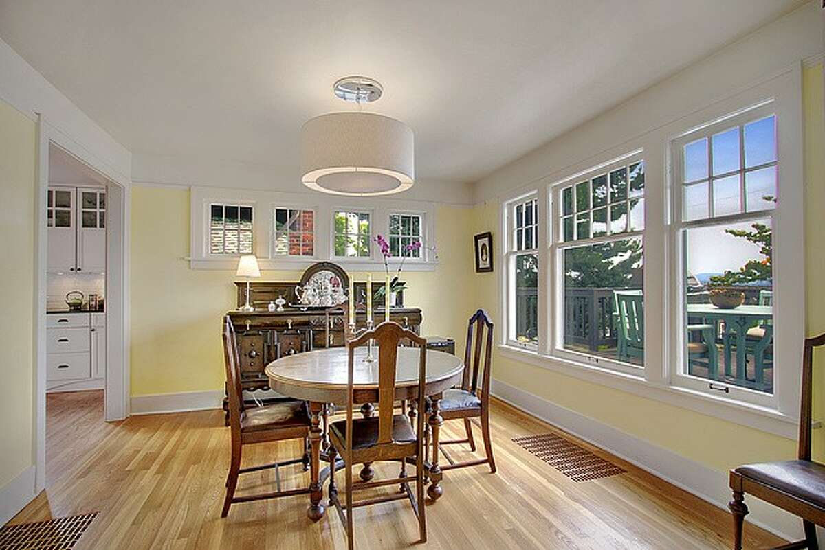 Dining room of 1523 38th Ave. The 2,490-square-foot Craftsman home, built in 1922, has four bedrooms, 1.75 updated bathrooms, an updated kitchen, built-ins and a deck with a view of Lake Washington on a 3,355-square-foot lot. It's listed for $839,000. An open house is scheduled for 2 p.m. to 4 p.m. on Sunday.