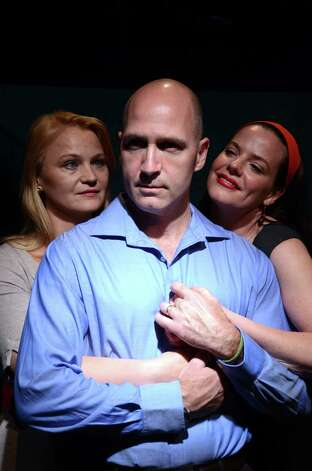 "Bridgeport actor Timothy Deenihan is starring in the world premiere of ""Tomorrow in the Battle"" at StageWorks Hudson in Hudson, N.Y. Also featured are Danielle Skraastad (left) and Celia Shaefer. Photo: Contributed Photo / Connecticut Post Contributed"