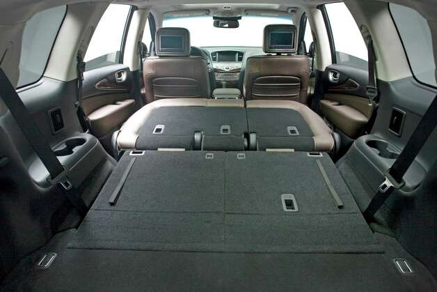 With middle and rear seats folded, the 2013 Infiniti JX will have a cavernous cargo area. Photo: Nissan North America