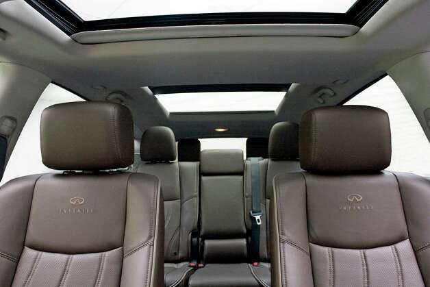 The Infniti JX will have room for two passengers in the front and middle rows, and three in the third row. The middle seats can slide forward or backward up to 5 1/2 inches. Photo: Nissan North America