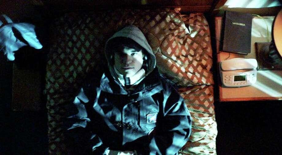 "Adam O'Brian portrays Frédéric Bourdin in the documentary ""The Imposter."" Photo: Indomina Media"