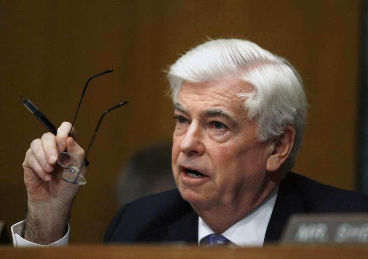 Senate Banking Committee Chairman Sen. Christopher Dodd, D-Conn. speaks during a hearing on Capitol Hill in Washington, Thursday, Dec. 3, 2009, on the renomination of Federal Reserve Chairman Ben Bernanke. (AP Photo/Jose Luis Magana)