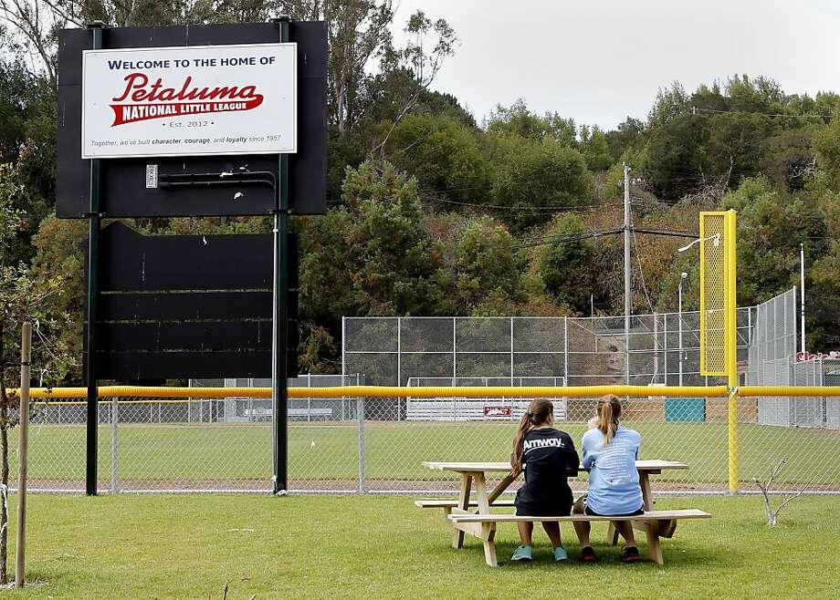 Petaluma National Little League dedicated a new field this season next to Petaluma Junior High School. Photo: Brant Ward, The Chronicle