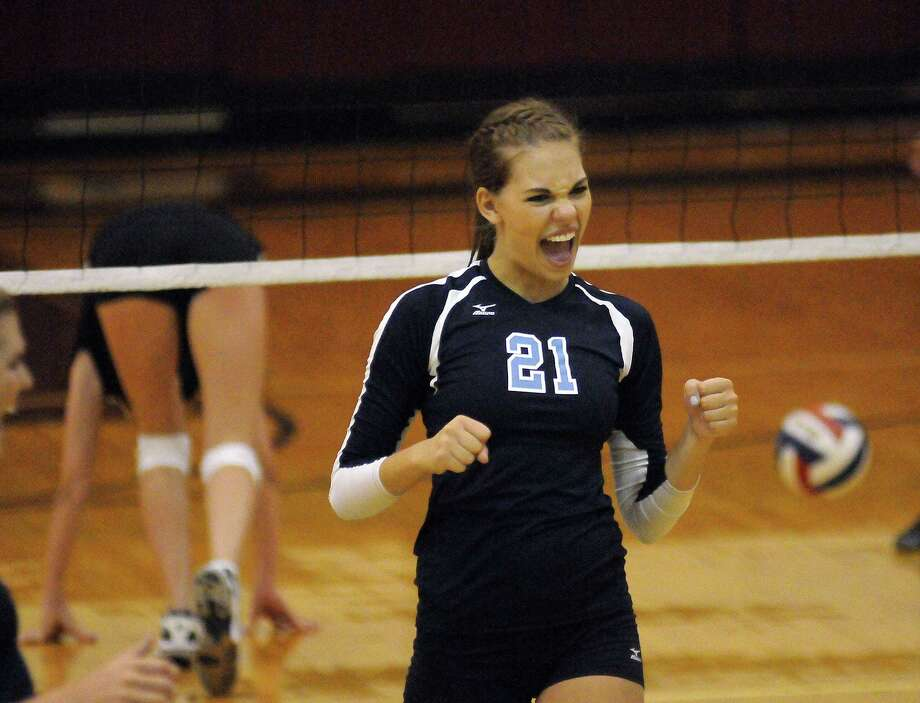 Tory Salness of Kingwood celebrates after a point during their match against Stratford. Photo: Dave Rossman, For The Houston Chronicle / © 2012 Dave Rossman