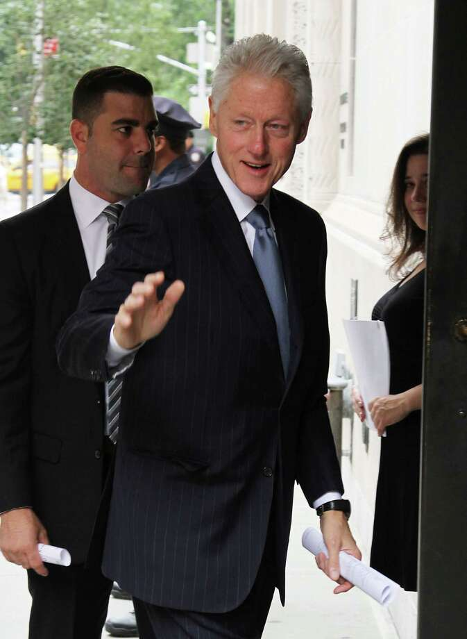 NEW YORK, NY - AUGUST 14:  Former U.S. President Bill Clinton attends the funeral service for Marvin Hamlisch at Temple Emanu-El on August 14, 2012 in New York City. Hamlisch died in Los Angeles on August 6, 2012 at age 68. In his long and distinguished career, the music man had received a Pulitzer Prize as well as the Oscar, Tony, Emmy and GRAMMY. Photo: Rob Kim, Getty Images / 2012 Getty Images