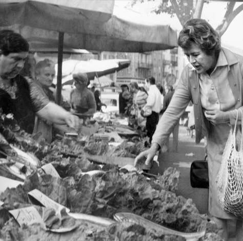 At the market. (SFC Archives)