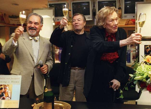 Narsi David, Jacques Pepin and Julia Child. (SFC Archives)
