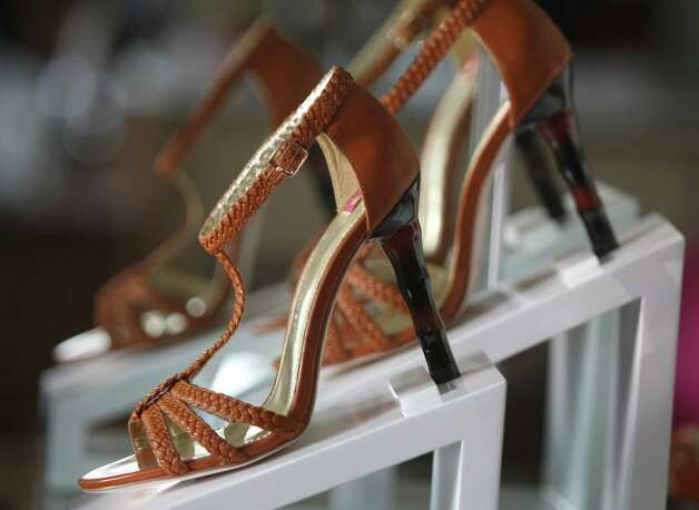 Briana Cognac Strappy Sandal at the new Elaine Turner store in Alamo Heights. Photo: Julysa Sosa, San Antonio Express-News / SAN ANTONIO EXPRESS-NEWS