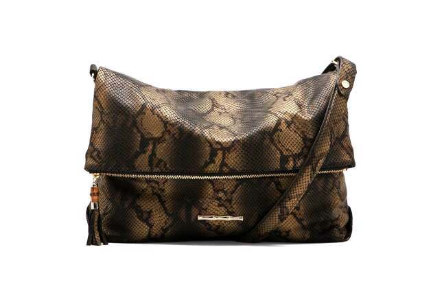 """Ali"" bag in matte bronze metallic python, $595 Photo: ELAINE TURNER, Courtesy / KENNON EVETT"