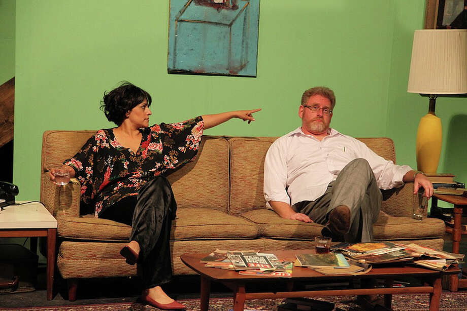 """Gloria Sanchez-Molina and David Connelly are savagely funny in AtticRep's """"Who's Afraid of Virginia Woolf?"""" Photo: Courtesy, Jonathan Moore"""