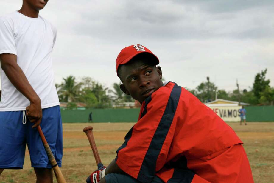 "Miguel Angel Sano is one of the top prospects who is followed in the new documentary ""Ballplayer: Pelotelo"" about the professional baseball training camps in the Dominican Republic. Director Jon Paley will do a question-and-answer session after a screening Thursday, Aug. 23 at the Avon Theatre in Stamford. Photo: Contributed Photo / Connecticut Post Contributed"