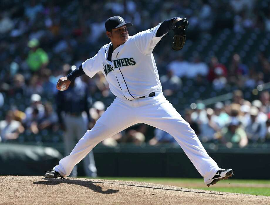 elix Hernandez  pitches against the Tampa Bay Rays at Safeco Field on Wednesday.  (Photo by Otto Greule Jr/Getty Images) Photo: Otto Greule Jr, Ap/getty / 2012 Getty Images