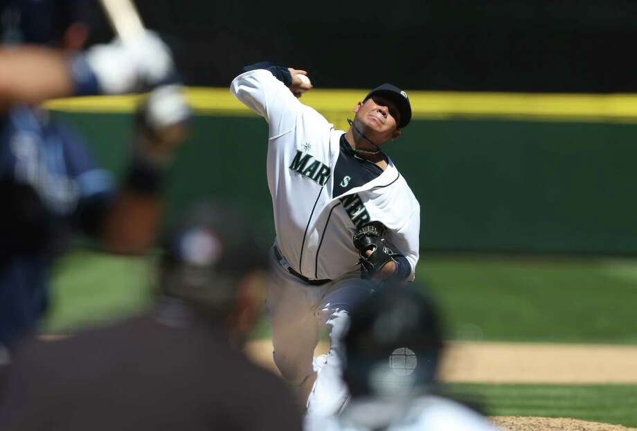 Felix Hernandez pitches against the Tampa Bay Rays on Wednesday.  (Photo by Otto Greule Jr/Getty Images) Photo: Otto Greule Jr, Ap/getty / 2012 Getty Images