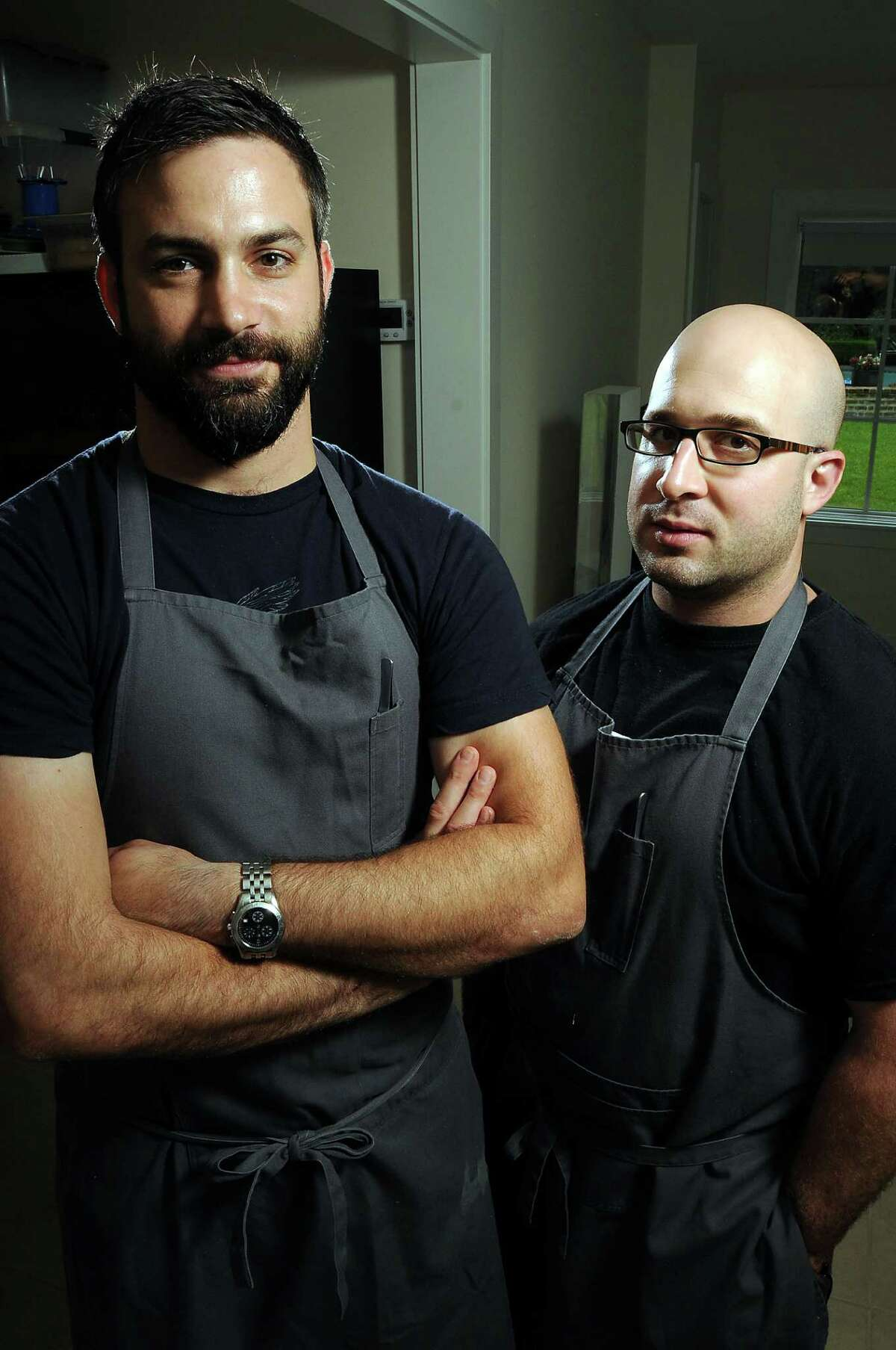 Chefs Terrence Gallivan, left, and Seth Siegel-Gardner are putting the final touches on their new dining experience - the dual-concept eatery Provisions and the Pass.