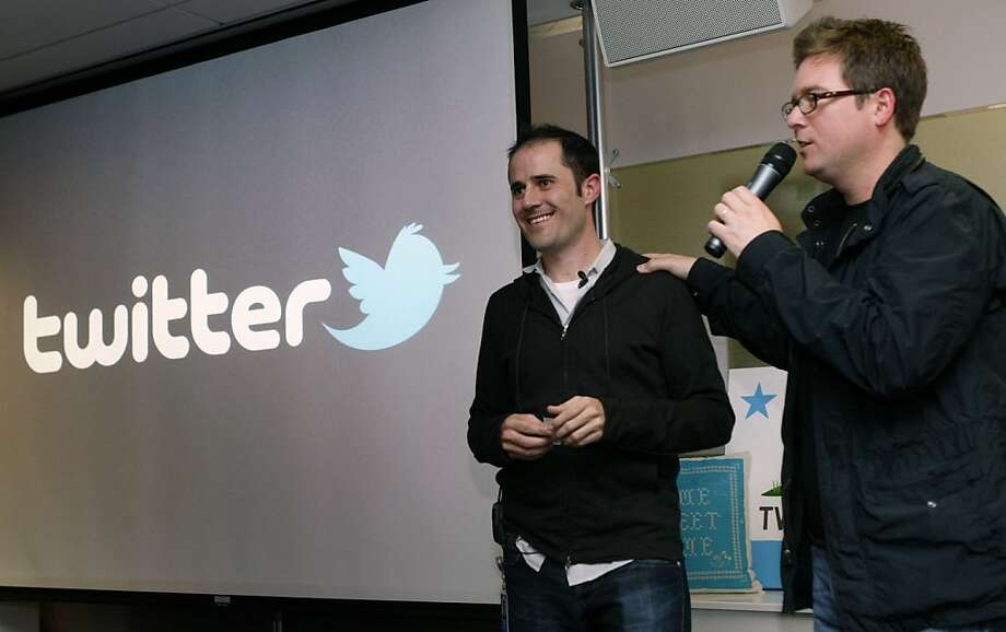 Evan Williams (left) and Biz Stone have worked together for years. Both are involved in Branch Media, as well as Twitter and Medium. Photo: Lance Iversen, The Chronicle