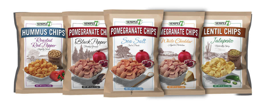 Simply7 chips contain no trans fat, cholesterol, artificial flavors, colors, additives or preservatives, and are made with gluten-free ingredients including hummus (chickpeas), lentils and, now, pomegranate.