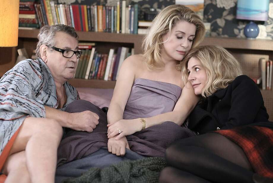 "Milos Forman (left), Catherine Deneuve and Chiara Mastroianni star in the drama ""Beloved,"" following the romantic sagas of a woman and her daughter. Photo: IFC Films"