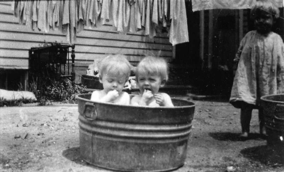 The Brown twins as children. Photo: Chronicle Archives