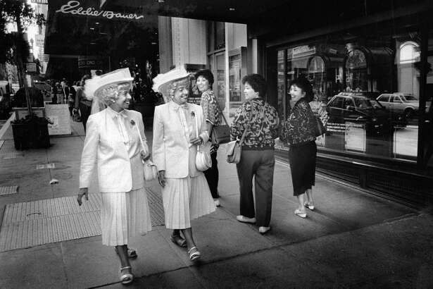 Identical twins Vivian and Marian Brown were sure to turn heads whenever they walked along San Francisco's streets.