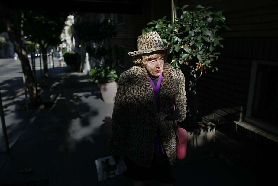 One half of the famed San Francisco twins, Marian Brown, 85, walks home alone from Uncle Vito's Pizza on Monday Aug, 13, 2012 in San Francisco, Calif. Her sister Vivian Brown has fallen ill and has been in the hospital for the past month. Photo: Mike Kepka, The Chronicle