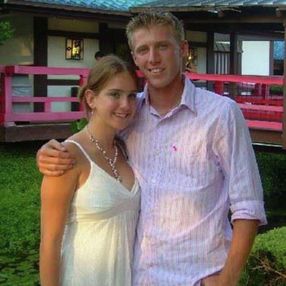 Jessica Ghawi and Brent Lowak, friends who were shot during the Aurora, Colo., movie theater shooting. Jessica was killed and Brent survived. Photo: COURTESY PHOTO