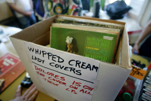 "Copies of ""Whipped Cream and Other Delights"" were selling for $6 Wednesday at Golden Oldies in Wallingford. Photo: Casey McNerthney/seattlepi.com"