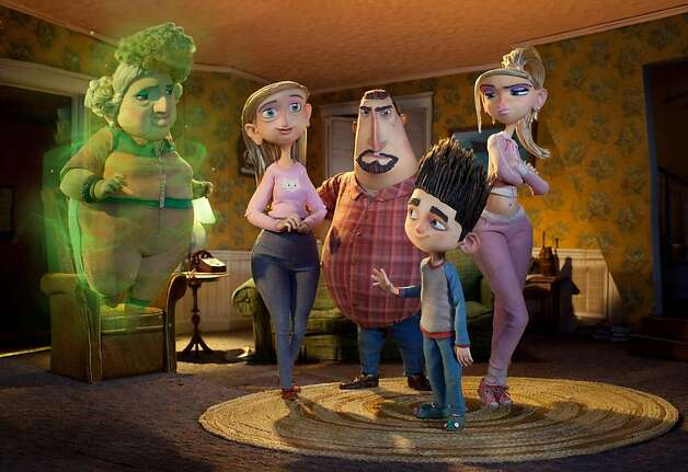 "Only Norman (center) can see his ghostly grandma (left, voice of Elaine Stritch) as the other characters look on in the visually striking ""ParaNorman."" Photo: Associated Press / SF"