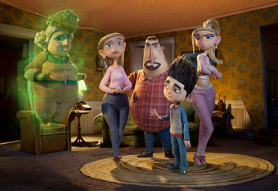 "Only Norman (center) can see his ghostly grandma (left, voice of Elaine Stritch) as the other characters look on in the visually striking ""ParaNorman."" Photo: Associated Press"