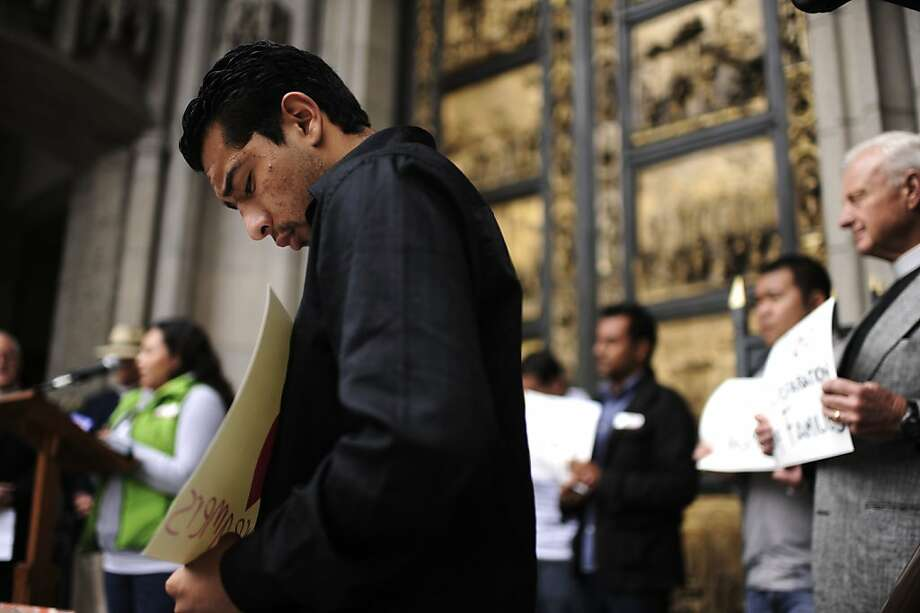Supporters of the deferred action program attend a press event in celebration of the policy. Photo: Yue Wu, The Chronicle