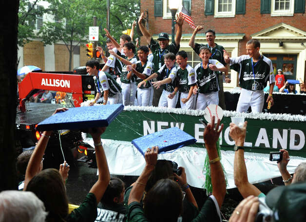 A parade down Third Street was held to kick off the 2012 Little League World Series in Williamsport, Penn. on Wednesday August 15, 2012. Photo: Christian Abraham / Connecticut Post