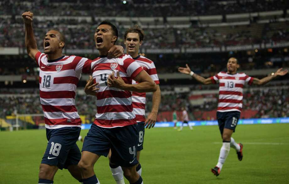 Michael Orozco of the United States celebrates after scoring. Photo: Miguel Tovar, Getty Images / 2012 Getty Images
