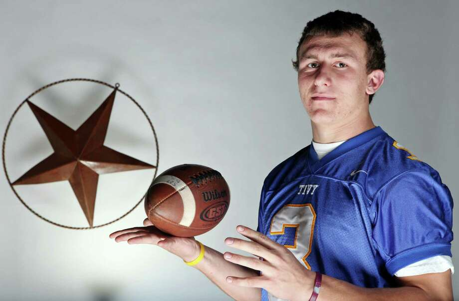 2010 Express-News Offensive Player of the Year: Johnny Manziel, Kerrville Tivy quarterback. Photo: Edward A. Ornelas, San Antonio Express-News / eaornelas@express-news.net