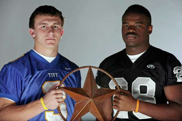 2010 Express-News Co-Offensive Players of the Year: Johnny Manziel, Kerrville Tivy quarterback; and Malcolm Brown, Steele running back. Photo: Edward A. Ornelas, San Antonio Express-News / eaornelas@express-news.net
