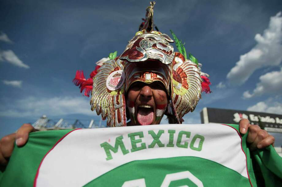 MEXICO CITY, MEXICO - AUGUST 15:  A fan of Mexico arrives at the stadium before a match against  the United States during a FIFA friendly match between Mexico and US at Azteca Stadium on August 15, 2012 in Mexico City, Mexico. Photo: Miguel Tovar, Getty Images / 2012 Getty Images