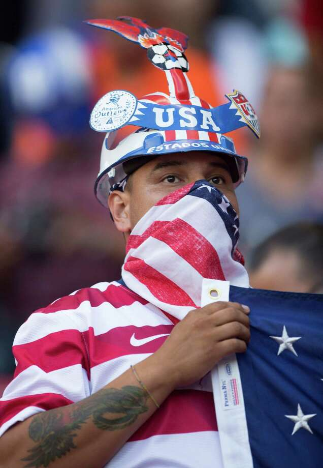 MEXICO CITY, MEXICO - AUGUST 15:  A fan of USA arrives at the stadium before a match against  the United States during a FIFA friendly match between Mexico and US at Azteca Stadium on August 15, 2012 in Mexico City, Mexico. Photo: Miguel Tovar, Getty Images / 2012 Getty Images