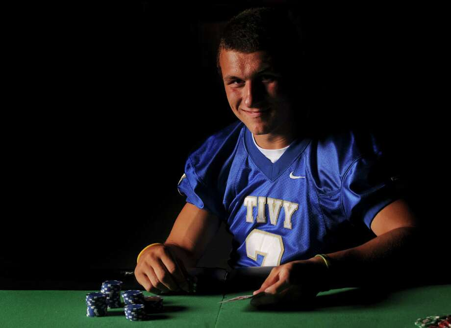 Quarterback Johnny Manziel of Kerrville Tivy High School, Blue Chip prospect at Pedrotti's North Wind Ranch in Helotes, July 27, 2010. Photo: Billy Calzada, San Antonio Express-News / gcalzada@express-news.net