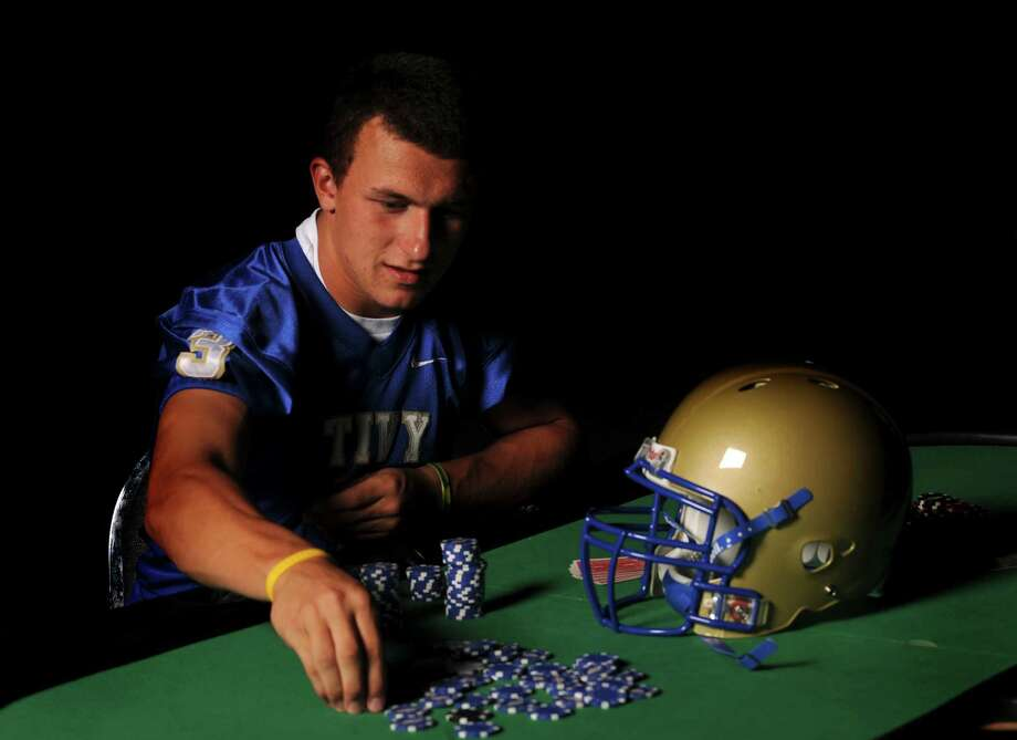 Quarterback Johnny Manziel of Kerrville Tivy High School, Blue Chip prospect at Pedrotti's North Wind Ranch in Helotes, July 27, 2010. Photo: Billy Calzada, San Antonio Express-News / gcalzada@express-news.net