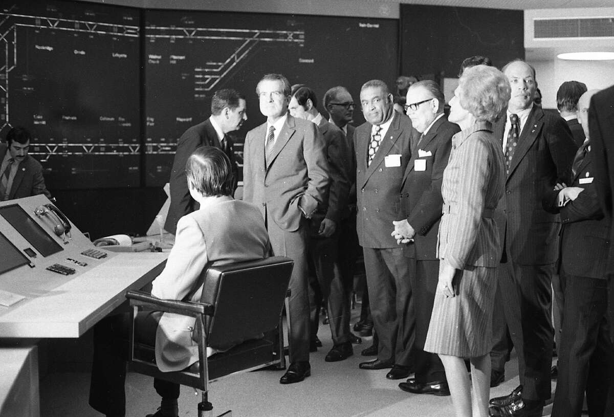 Nixon was given a tour of the BART control center at the Lake Merritt station, and, according to reporters, commented that the control room